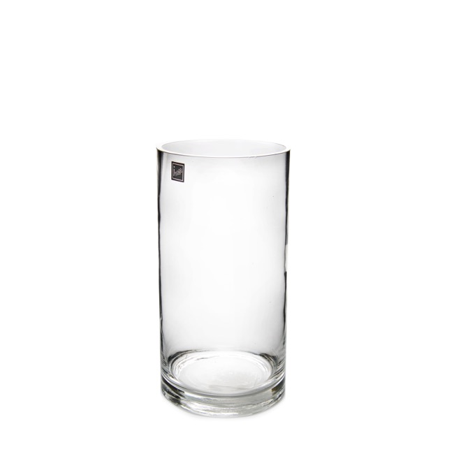Glass Cylinder Vase Clear (10Dx26cmH)