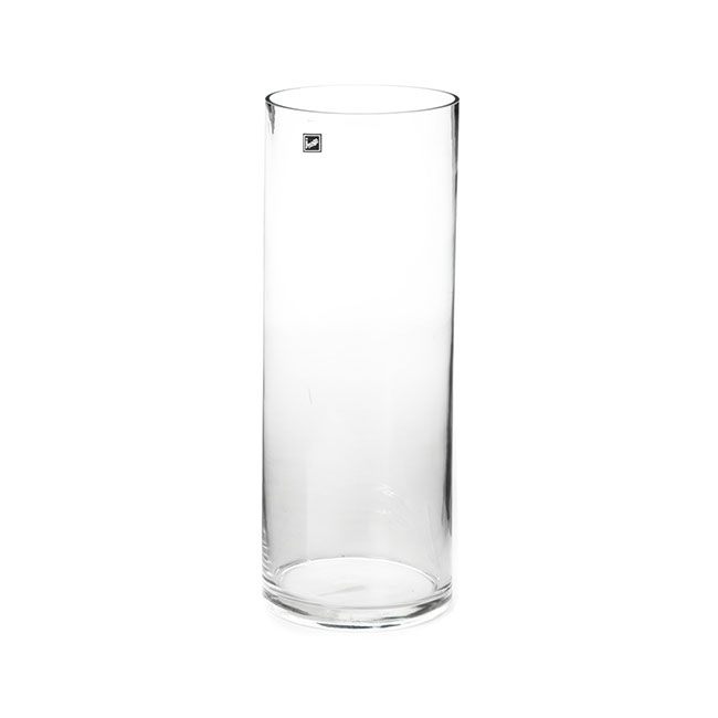 Glass Cylinder Vase Clear (15Dx40cmH)