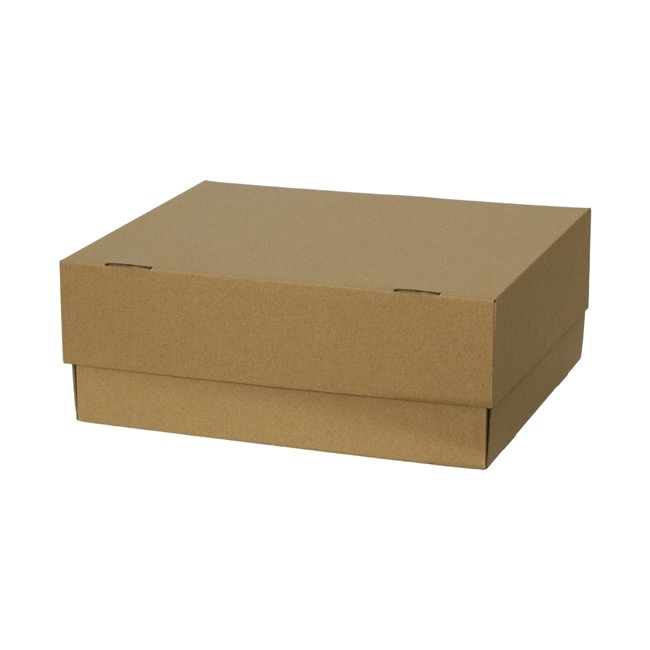 Fruit Hamper Box Flat Pack Kraft Large (33x28x13cmH)