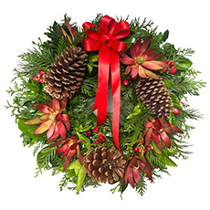- Interflora Santas Favourite Christmas Wreath