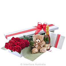 - Interflora Grand Seduction Presentation Box of Red Roses