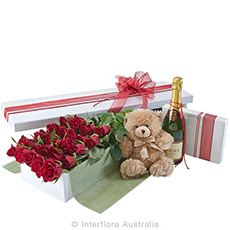 - Interflora Everlasting Love Deluxe Box Of Red Roses