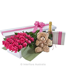 - Interflora Everlasting Love Deluxe Box Of Pink Roses