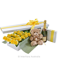 - Interflora Everlasting Love Deluxe Box Of Yellow Roses