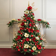 Opulent Flower Christmas Tree