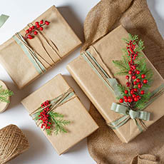 - Creative Kraft wrapping