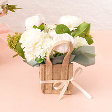Classic white and green florals in Posy Bag