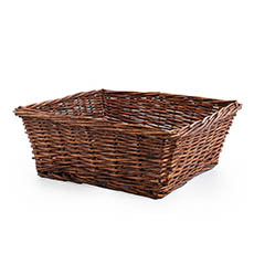 Hamper Tray & Gift Basket - Willow Tray Square Copper (40x40x15.5cmH)
