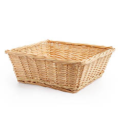 Hamper Tray & Gift Basket - Willow Tray Square Natural (40x40x15.5cmH)