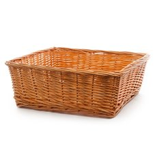 Willow Tray Square Honey (40x40x15.5cmH)