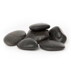 Polished River Pebbles Black (10KG Bag)