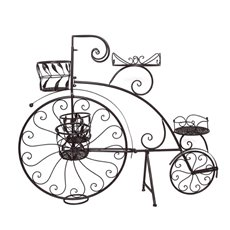 Merchandising Displays - Penny Farthing Bicycle Planter Rustic Brown (114x25x86cmH)