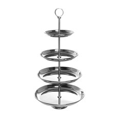 Cupcake Display Stand 4 Tier Silver (30x70cmH)