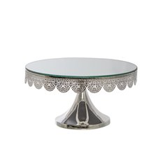 Cake Stands - Luxe Cake Stand Silver (30x16.5cmH)