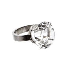 Reception Decoration - Napkin Ring Diamond Ring large 4cmST. Clear Silver