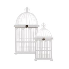 Wedding Birdcage Singapore Style 2 Pack White (30x30x60cmH)