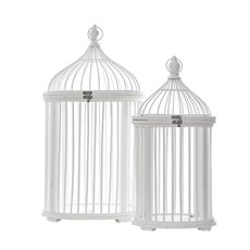 Wedding Birdcage Round Set of 2 White (32Dx54cmH)