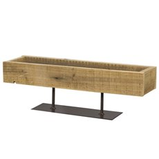 Reception Decoration - Modern Rectangle Wooden Tray Natural (42x12x13cmH)