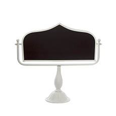 Ceremony Decoration - Metal Blackboard Stand White (48x49.5cmH)