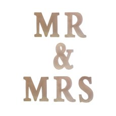 Wedding Letters - Metal Letters MR & MRS Rose Gold (6 Letters 18.5Wx4.5Dx22H)