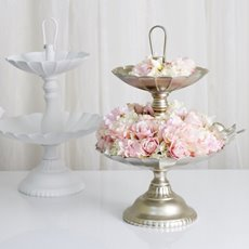 Cake Stands - Metal Cake Stand ChampagneGold (39x42cmH)