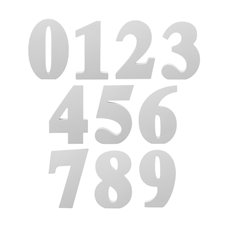 Wedding Letters - Single Numbers 0 - 9 Pack of 10 White (18cmH)