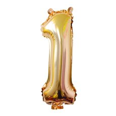 Foil Balloon Air Fill 16 (40.6cm) Number 1 Gold