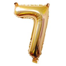 Foil Balloons - Air Fill Foil Balloon Number 7 Gold (16 or 40cm)