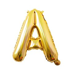 Foil Balloons - Air Fill Foil Balloon Letter A Gold (16 or 40cm)
