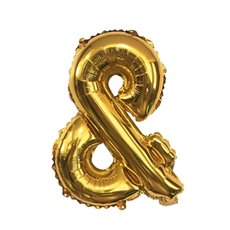 Foil Balloon Air Fill 16 (40.6cm) Letter & Gold