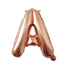 Foil Balloons - Foil Balloon Air Fill 16 (40.6cm) Letter A Rose Gold