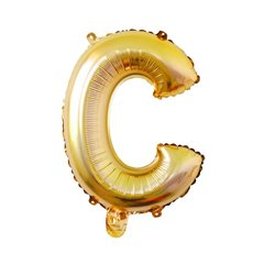 Foil Balloon Air Fill 16 (40.6cm) Letter C Gold