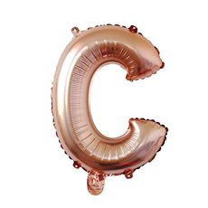 Foil Balloon Air Fill 16 (40.6cm) Letter C Rose Gold
