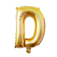 Foil Balloon Air Fill 16 (40.6cm) Letter D Gold