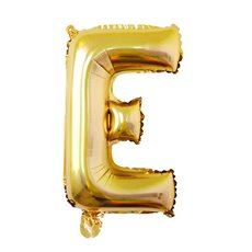 Foil Balloon Air Fill 16 (40.6cm) Letter E Gold