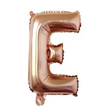 Foil Balloon Air Fill 16 (40.6cm) Letter E Rose Gold