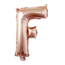 Foil Balloons - Air Fill Foil Balloon Letter F Rose Gold (16 or 40cm)
