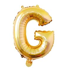 Foil Balloons - Air Fill Foil Balloon Letter G Gold (16 or 40cm)