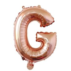 Foil Balloons - Air Fill Foil Balloon Letter G Rose Gold (16 or 40cm)