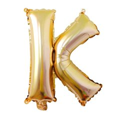 Foil Balloons - Air Fill Foil Balloon Letter K Gold (16 or 40cm)