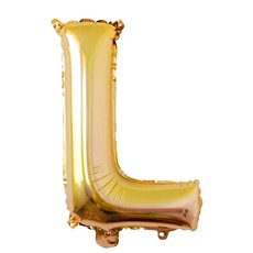 Foil Balloon Air Fill 16 (40.6cm) Letter L Gold