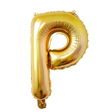 Foil Balloon Air Fill 16 (40.6cm) Letter P Gold