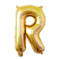 Foil Balloon Air Fill 16 (40.6cm) Letter R Gold