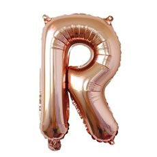 Foil Balloons - Air Fill Foil Balloon Letter R Rose Gold (16 or 40cm)
