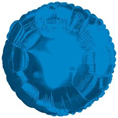 Foil Balloon 17  Round Blue