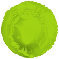 Foil Balloon 17  Round Lime Green
