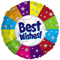 Foil Balloons - Foil Balloon 17 (42.5cm Dia) Round Best Wishes