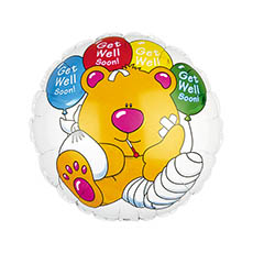 Foil Balloon 17 (42.5cm Dia) Round Brewster Get Well