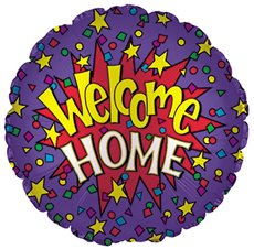 Foil Balloon 17 (42.5cm Dia) Round Welcome Home