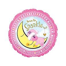 Foil Balloons - Foil Balloon 17 (42.5cm Dia) Born to Sparkle